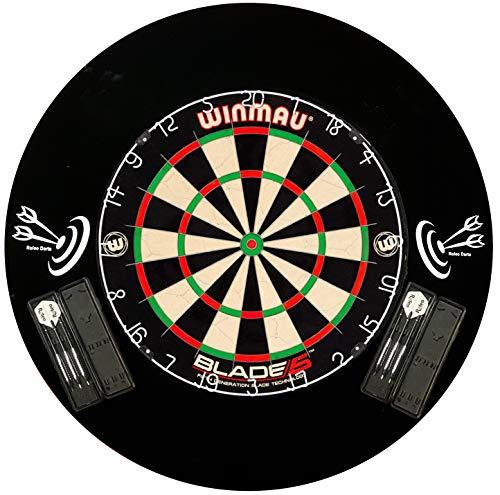 Winmau Dartboard Blade 5 + 6 Steeldarts + Roleo Catchring