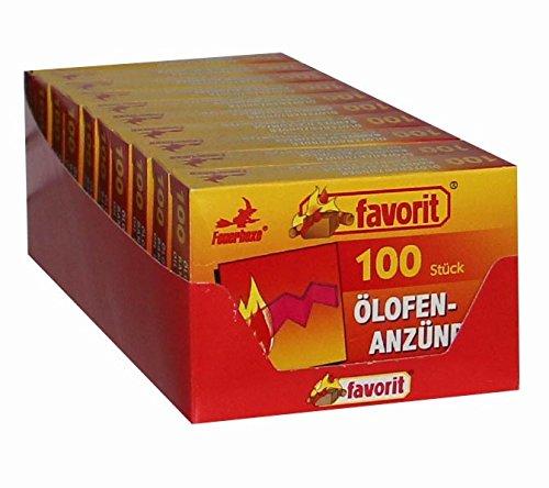 favorit Ölofenanzünder 10x100 Stk.