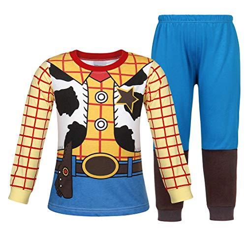 Jurebecia Girls Boys Jessie Costume Long Sleeve Long Pants Costume Suit Pajamas Size 6