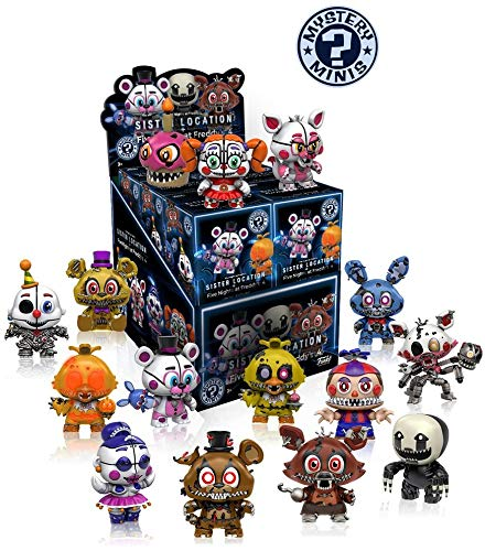 Funko Mystery Minis Five Nights at Freddy's Sister Location and Five Nights at Freddy's 4 - Figura, 1 figura aleatoria