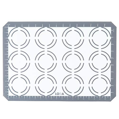 16-1/2' x 11-1/2' Nonstick Silicone Cookie Baking Sheet Mat, fits standard half-sheet size pan.