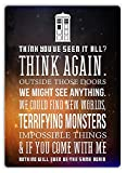 Doctor Who Quote Metall Blechschild Retro Metall gemalt