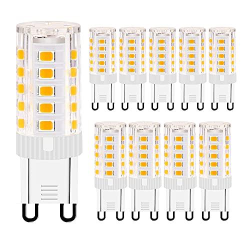 G9 LED Lampe, 3W Warmweiß 3000k G9 LED Leuchtmittel ,Ersatz 30W G9 Halogenlampe,Energiesparende Glühbirnen,Nicht Dimmbar,10er Pack