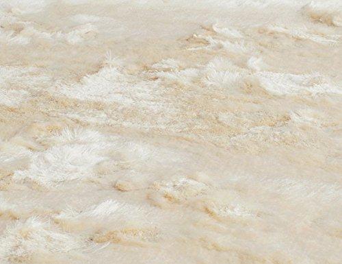 Safavieh Paris Shag Collection SG511 Handmade Silken Glam 2.5-inch Thick Area Rug, 8' x 10', Ivory
