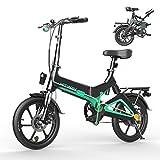 HITWAY Bicicleta eléctrica, Ligera, 250 W, Plegable, eléctrica, con Asistencia de Pedal, con batería de 7,5 Ah, 16 Pulgadas, para Adolescentes y Adultos (Negro)