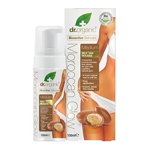 Dr Organic Moroccan Glow Medium Self Tan Mousse 150ml by Dr. Organic