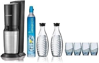 Sodastream - crystalbicv - Machine à gazéifier l'eau du robinet + 2 carafes et 4 verres