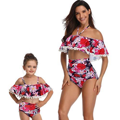 Yuyudou moeder en baby dochter 2 stuks badkleding bloemen print badpak ouder-kind bikini