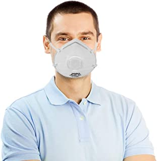 20 Pack of No Valve N95 Particle Respirators. White Disposable Breathing masks. Premium Quality protective mask. Heavy duty particulate respirator. One size fits all. Soft, Breathable, Lightweight.