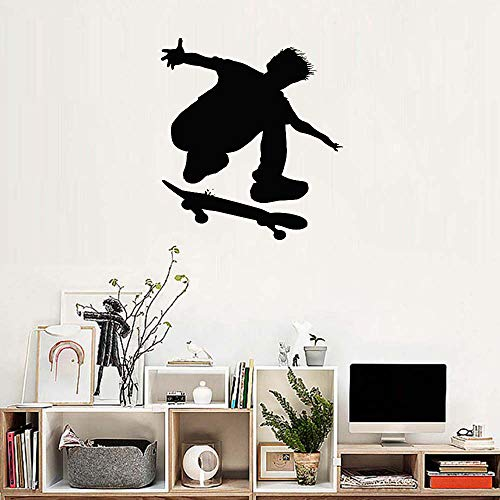 WallWall Tattoo, Wandaufkleber, Artist Sticker Room Decor Schlafzimmer Mobile Polyethylen Poster Tattoo, Wand Skateboard Ride S Decalss Für Kinder S Fun Teenager MuralWaterproof Removable 56x62cm