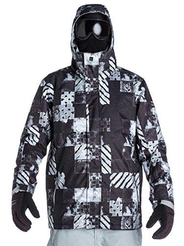 Quiksilver Herren Snowboard Jacke Mission 10k Aop, Atom Black, S, KTMSJ223-KVJ3