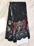 Tissu africain bleu royal de Bazin Riche avec des pierres dernier tissu de dentelle de Bazin de broderie pas cher pour homme et femme robe FP720,6