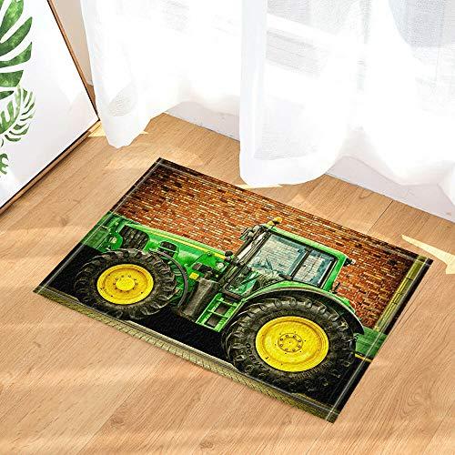 Aliyz Moderno Tractor mecánico con Artista habitación del Hotel Puerta del Piso Alfombra baño Dormitorio Cocina Sala de Estar Alfombra para niños Material Antideslizante Franela 40x60cm