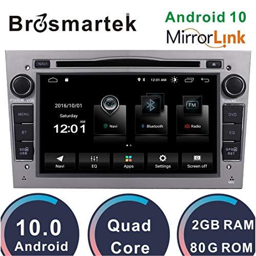 Dab + Android 10 GPS de navegación estéreo para automóvil Reproductor de DVD de 7 Pulgadas para Opel Corsa Astra Zafira Antara Soporte Bluetooth Sat Nav Radio RDS DVD Pantalla de Espejo WiFi Gris