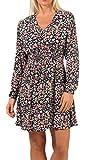 ONLY Damen Kleid ONLTamara Langarm-Kleid mit Blumenprint 15221091 Night Sky/Shore Flowers M