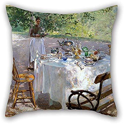 Das Ölgemälde Hanna Pauli-Frühstück Throw Pillow Covers Dekoration Geschenk für Son Shop Teens Mädchen Divan Liegestuhl Schlafzimmer