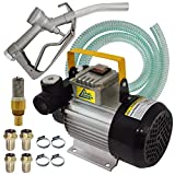Pompa Diesel 230V pompa travaso gasolio pompa gasolio 230 V con accessori, pistola e tubo in gomma da 6 m! pompa olio combustibile