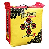Morrell Yellow Jacket Supreme 3 28 Pound Adult Field Point Archery Bag Target with 2 Shooting Sides, 10 Bullseyes, and IFS Technology, Handle, Yellow