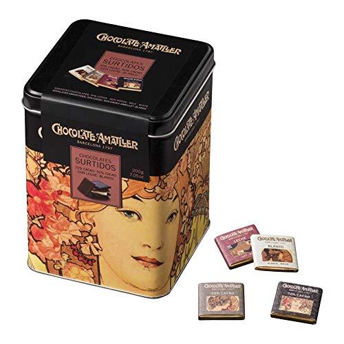 Chocolate Amatller - Chocolates Surtidos Caja Metálica 200g