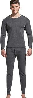 Winter Warm Men O-Neck Thermal Suit Keep Sleepwear Tops and Pants Underwear Set