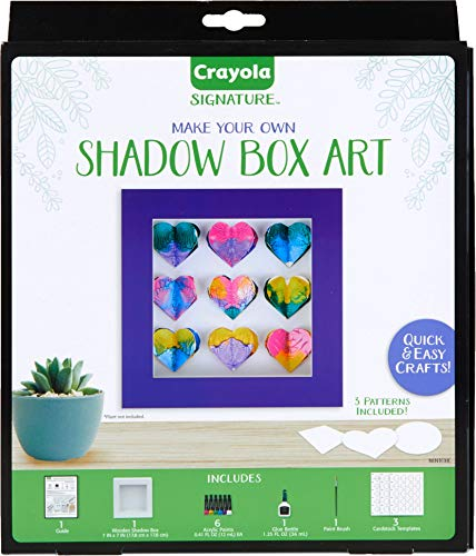 Crayola DIY Shadow Box, Personalized Picture Frame Kit, Unique Gifts for Mom, 13 Piece