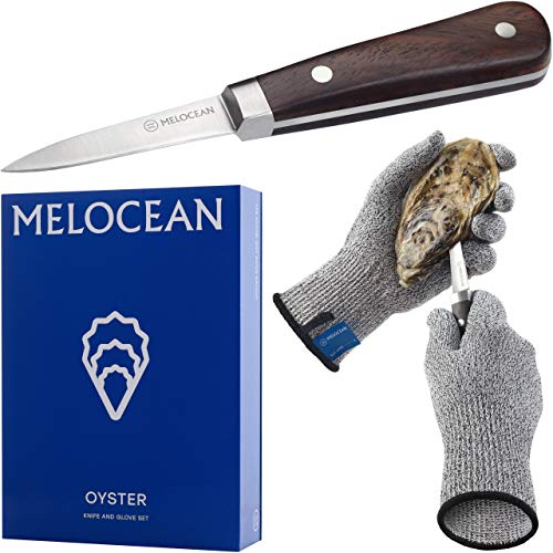 Oyster Shucking Knife and Gloves Set