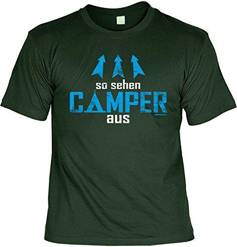 Camping Sprüche T-Shirt - Bekleidung Camper : so sehen Camper aus - lustige Campingplatz Ausrüstung Gr: XXL