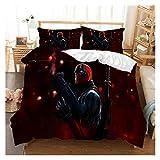 YONGLI Marvel Deadpool 3D Bedding Set Bed Duvet Cover Set Comforter Bedding Sets Bedclothes Bed Linen (NO Sheet) Bedding Set Luxury (Color : 10, Size : US Queen)