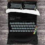 KUKHKU Sinclair ZX Spectrum Gaming Console 3 piezas juego de cama funda de edredón 86 'x 70', juego de cama decorativo de 3 piezas con 2 fundas de almohada