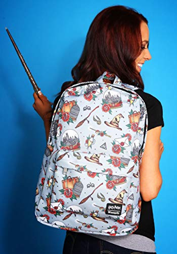 Loungefly Harry Potter Hogwarts Floral Print Backpack Standard