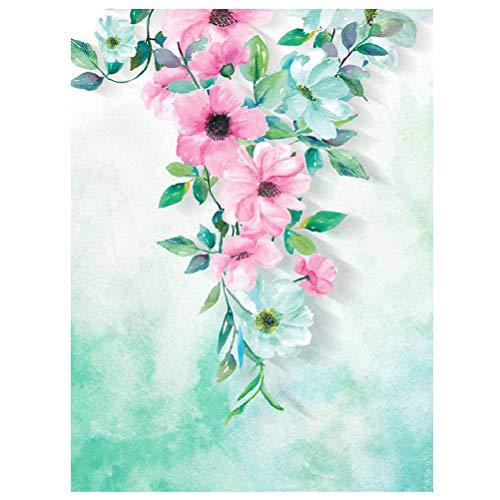 LIOOBO Flores y Plantas Que pintan Carteles autoadhesivos Decorativos Dibujo de Pared con Pintura de Porcelana de Cristal para la Sala de Estar Dormitorio Fondo de sofá (JCH015) (40 * 30 cm)