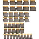 40 teiliges Set Japanspachtel 50mm 75mm 100mm 120mm flexibel Flächenspachtel Metall-Spachtel Maler