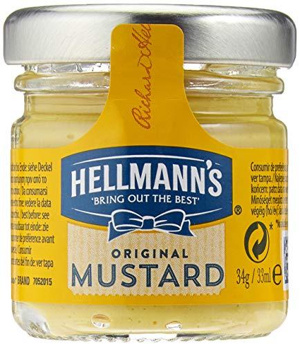 Hellmann's Senf mittelscharf Mini Glas (perfekte Serviergröße im Gastraum) 1er Pack (80 x 33 ml)