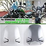 AHOLAA VN650 EN650 Parabrisas de Motocicleta,Deflector de Viento Frente Parabrisas Visera de Accesorios para KAWASAKI Vulcan S 650 EN 650 VN 650 2015 2016 2017 2018 2019 2020 2021 (Humo ligero)