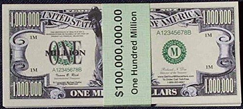 Green Mountain Direct Set of 100 Million Dollar Bills