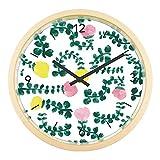 壁掛け時計 おしゃれ 木製 音がしない 時計 かわいい レースフェーベル ウッド RESFEBER 青山佳世 花 フラワー 北欧 インテリア 静音