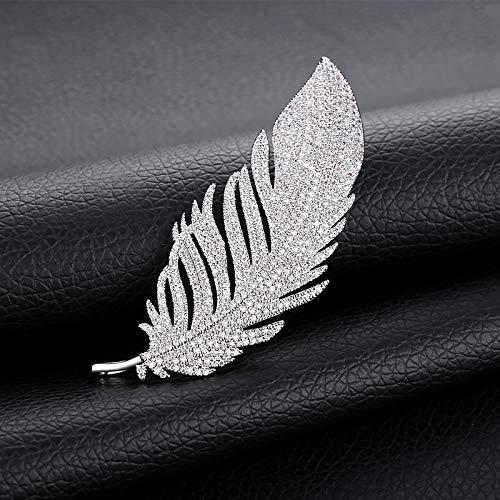 XIONGZ Temperamento Broche de Pluma Broche de alfiler versión Coreana de la Sudadera de Punto de Chaqueta de Punto Retro de Moda Retro