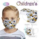 50Piezas niño Impresión de dibujos animados Protección 3 Capas Transpirables con Elástico para Los Oídos