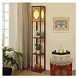 WYZ W. Plataforma LED Lámpara de pie con estantes 3 exhiben almacenaje decoración casera Moderna lámpara de la Esquina/Almacenamiento luz de la iluminación Vertical Z. (Size : 1)