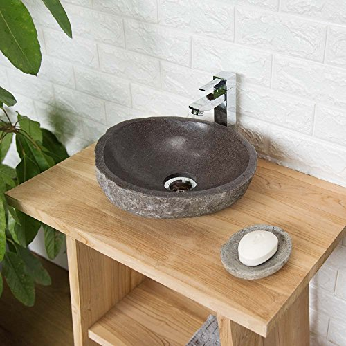 wohnfreuden Naturstein Waschbecken 30 cm mit Unikatauswahl nach dem Kauf aus der Bildergalerie