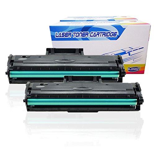 Inktoneram Compatible Toner Cartridges Replacement for Samsung D104S MLT-D104S MLTD104S ML-1865 ML-1865W SCX-3200 SCX-3200W SCX-3205 SCX-3205W ML-1660 ML-1660N ML-1665 ML-1670 ML-1675 (Black, 2-Pack)