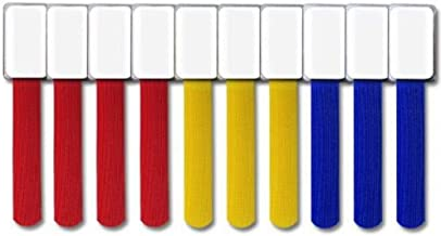 Cable Management Cable Ties with Labels, 10 PCS, Mixed Color - Reusable Hook and Loop Cable Labels, Cord Organizer for Tra...