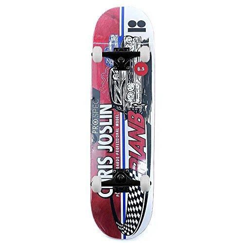Piano B Skateboard Chris Joslin Racer Pro Skateboard completo rosso 8,5'