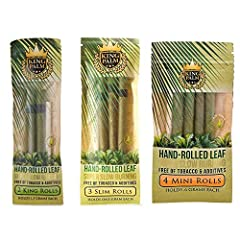Don't know how to roll? No problem, King Palm has your back. Our cones come prerolled for your convenience. No need to split, lick, or roll ever again. Seriously, just pack and enjoy your all natural smoke sesh. Made from natural leaf rolls that are ...