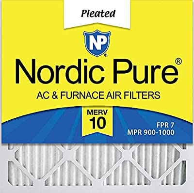 Nordic Pure 20x20x1 MERV 10 Pleated AC Furnace