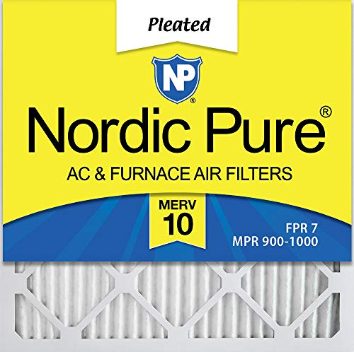 Nordic Pure 14x14x1 MERV 10 Pleated AC Furnace Air Filters 6 Pack