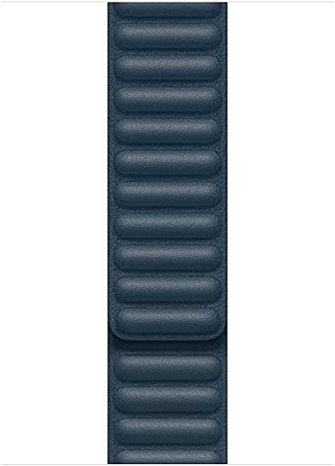 Apple Watch Leather Link (44mm) – Baltic Blue – Large