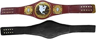 NXT North American Championship Title Belt Real Leather Gold Plated Adult