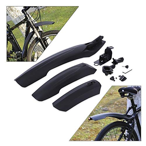 Rehomy Guardabarros de Bicicleta Bicicleta de Carretera de montaña Ajustable Guardabarros Delantero/Trasero de Bicicleta Guardabarros Guardabarros Conjunto