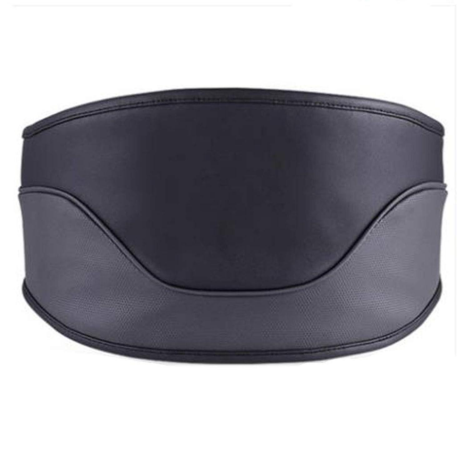 アラブ生まれ波紋マッサージャー マッサージャーウエストマッサージャー首肩全身ホーム腰椎マッサージャー電気暖房付き多機能成人理学療法ギフトホームオフィスカー (Color : Black, Size : M)